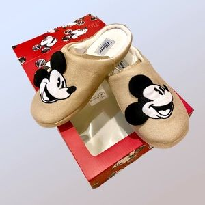 DISNEY Mickey Mouse Gold Padded Slippers